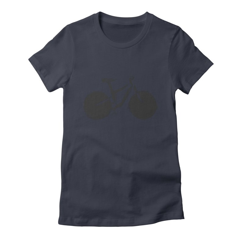 Sumi-e Bike (black) Women's Fitted T-Shirt by CRANK. outdoors + music lifestyle clothing