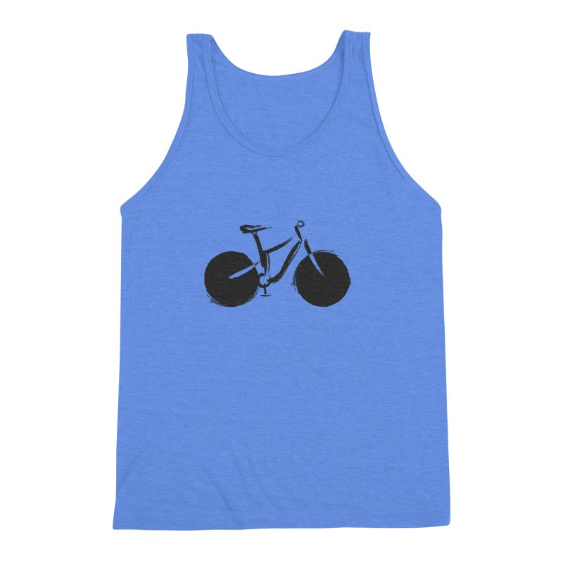Sumi-e Bike (black) Men's Triblend Tank by CRANK. outdoors + music lifestyle clothing