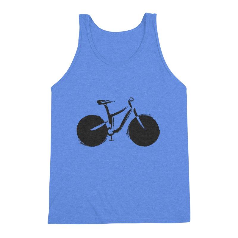 Sumi-e Bike (black) Men's Triblend Tank by CRANK. outdoors + music lifestyle clothing
