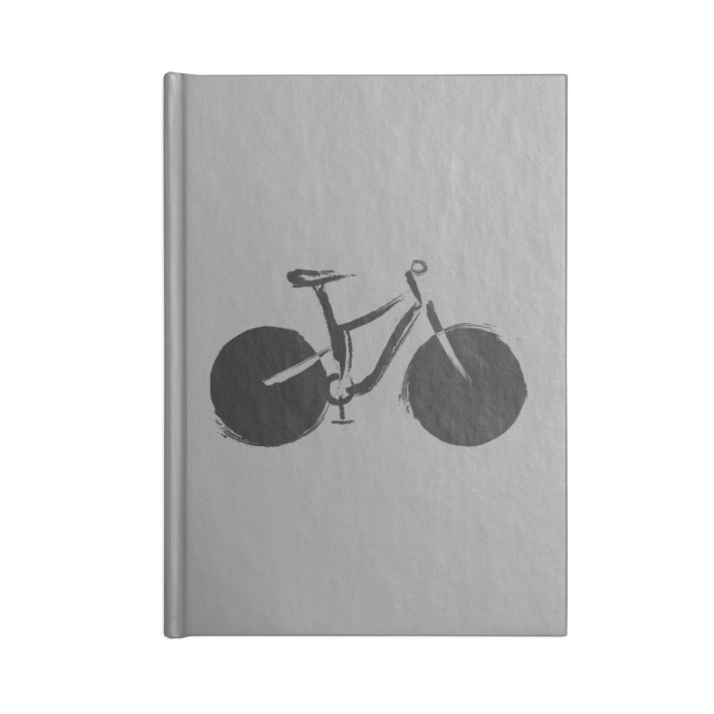 Sumi-e Bike (black) Accessories Lined Journal Notebook by CRANK. outdoors + music lifestyle clothing