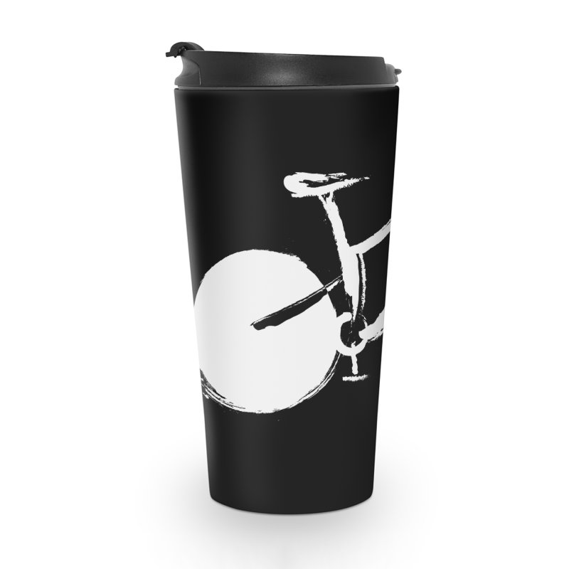 Sumi-e Bike Commute (white) Accessories Mug by CRANK. outdoors + music lifestyle clothing