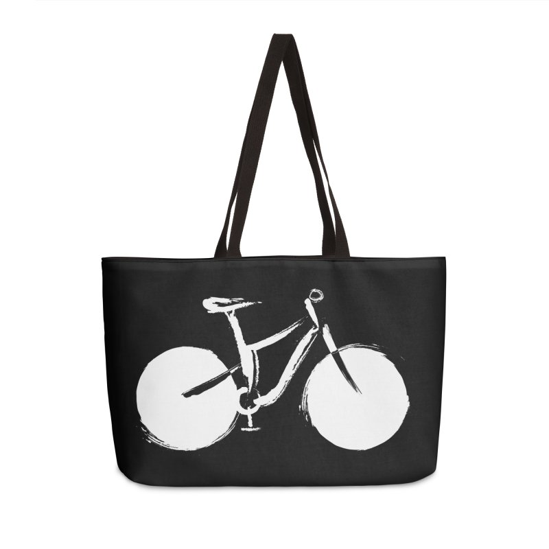 Sumi-e Bike Commute (white) in Weekender Bag by CRANK. outdoors + music lifestyle clothing
