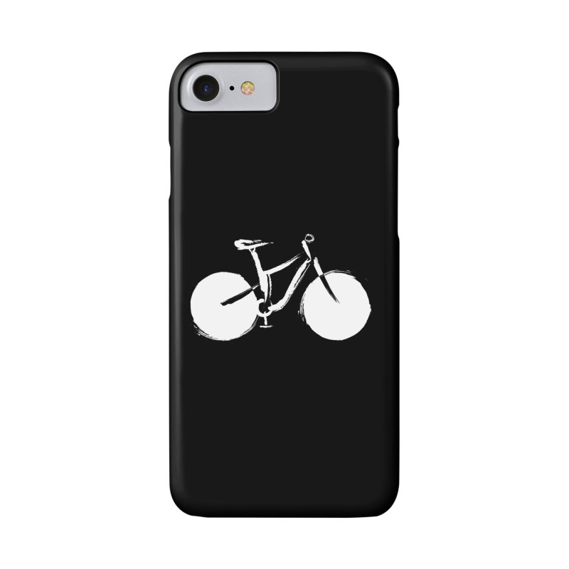 Sumi-e Bike Commute (white) Accessories Phone Case by CRANK. outdoors + music lifestyle clothing