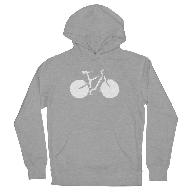 Sumi-e Bike Commute (white) Women's Pullover Hoody by CRANK. outdoors + music lifestyle clothing