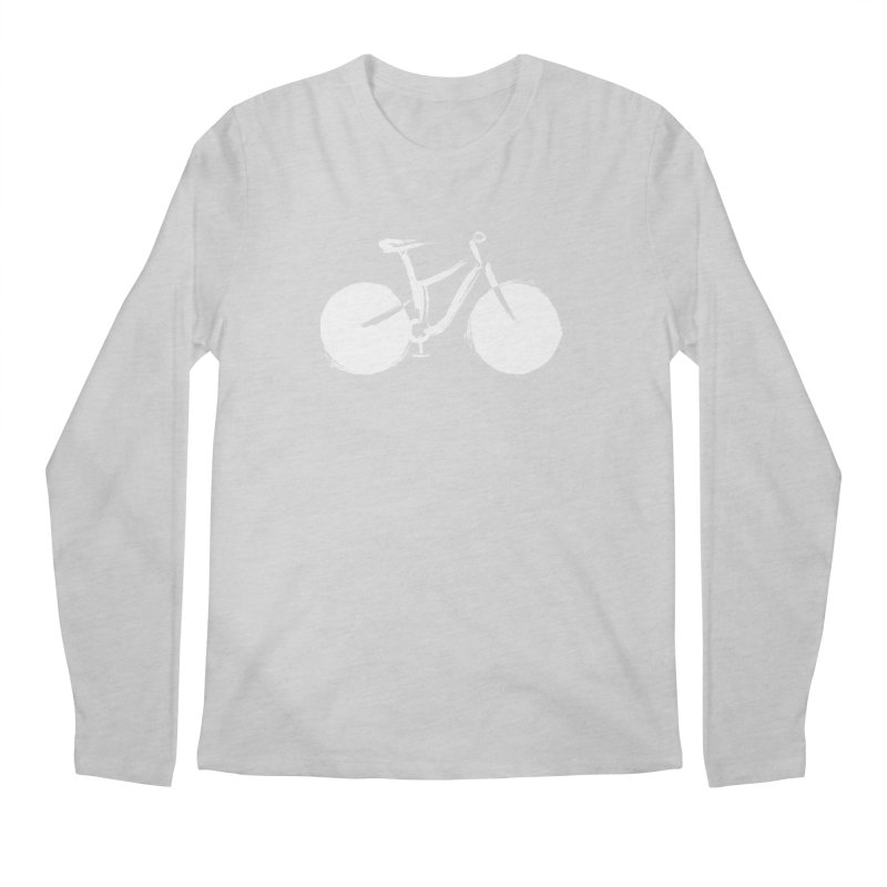 Sumi-e Bike Commute (white) Men's Longsleeve T-Shirt by CRANK. outdoors + music lifestyle clothing
