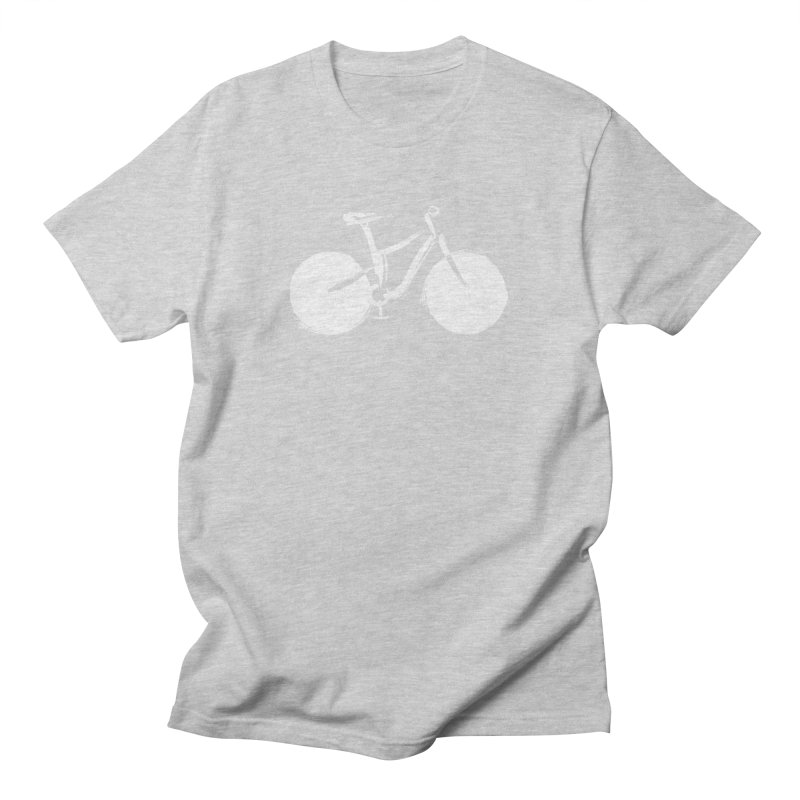 Sumi-e Bike Commute (white) Women's Unisex T-Shirt by CRANK. outdoors + music lifestyle clothing