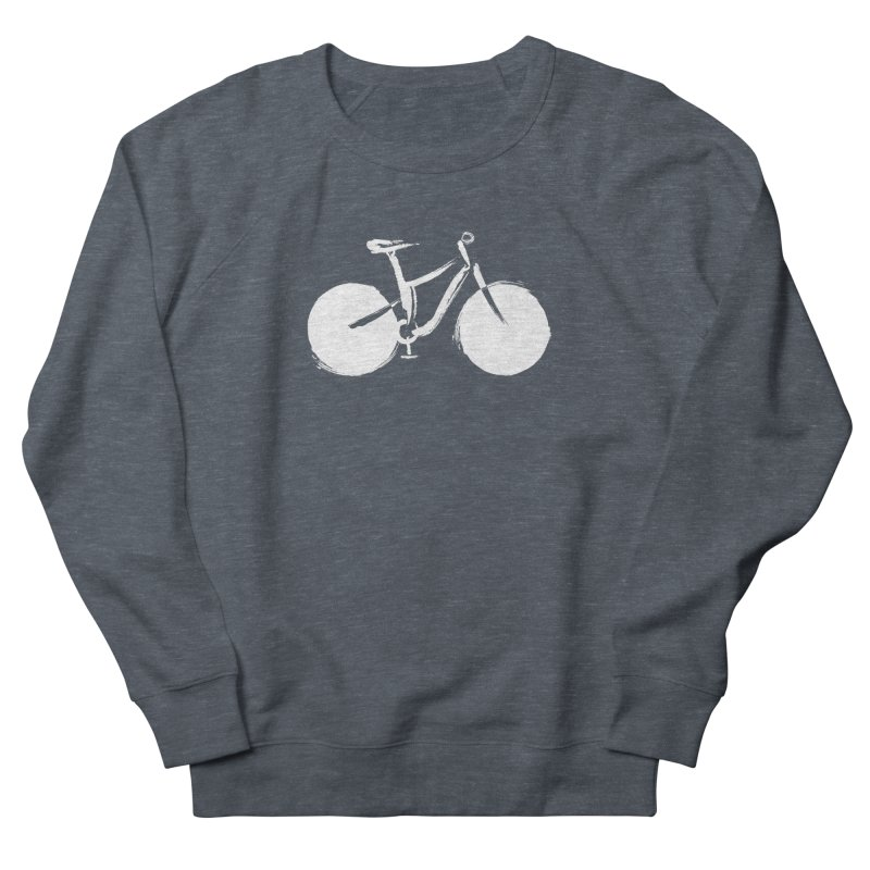 Sumi-e Bike Commute (white) Men's Sweatshirt by CRANK. outdoors + music lifestyle clothing