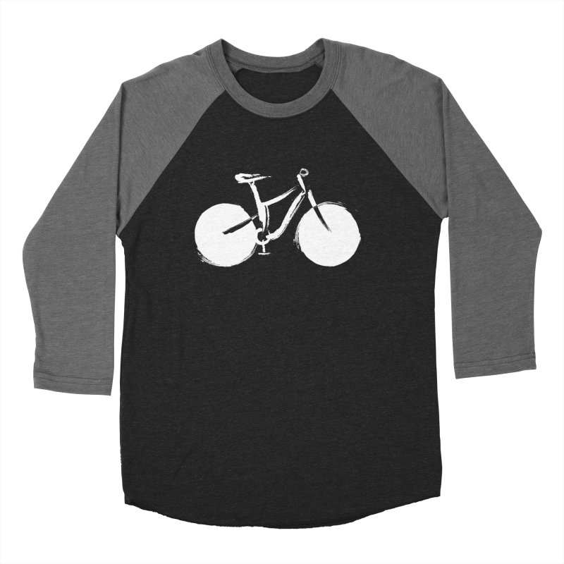 Sumi-e Bike Commute (white) Women's Baseball Triblend T-Shirt by CRANK. outdoors + music lifestyle clothing