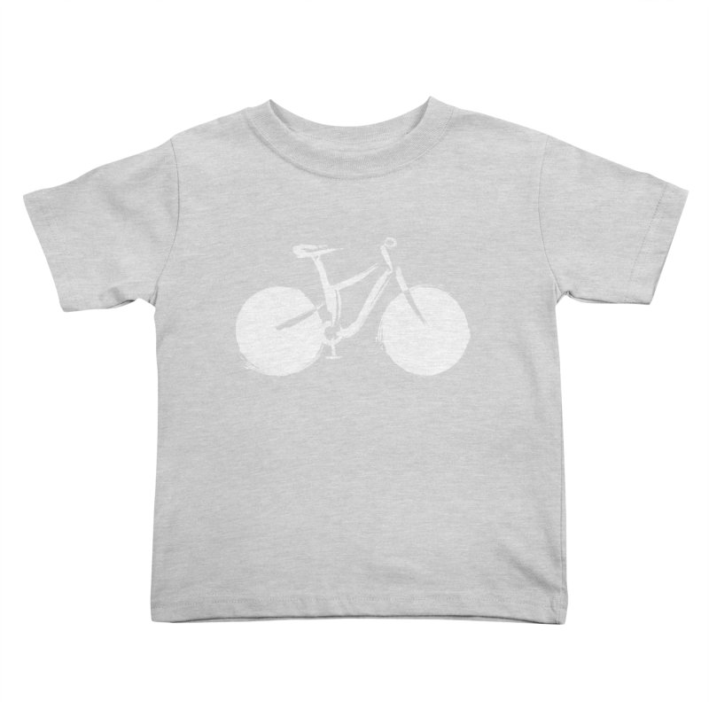 Sumi-e Bike Commute (white) Kids Toddler T-Shirt by CRANK. outdoors + music lifestyle clothing