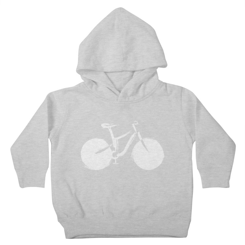 Sumi-e Bike Commute (white) Kids Toddler Pullover Hoody by CRANK. outdoors + music lifestyle clothing