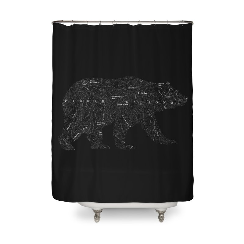 Pisgah the Topo Bear Home Shower Curtain by CRANK. outdoors + music lifestyle clothing