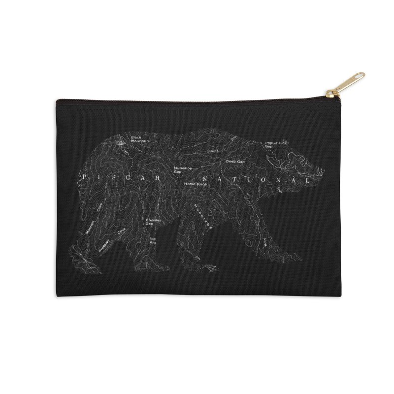 Pisgah the Topo Bear Accessories Zip Pouch by CRANK. outdoors + music lifestyle clothing