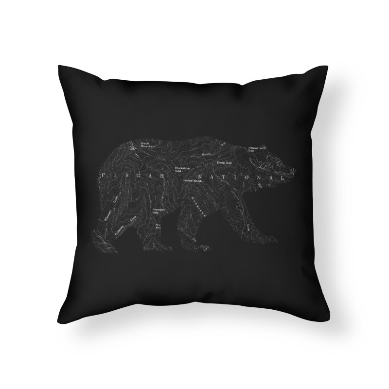 Pisgah the Topo Bear Home Throw Pillow by CRANK. outdoors + music lifestyle clothing