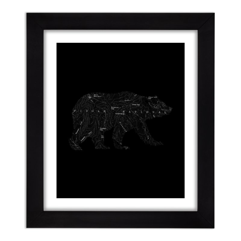 Pisgah the Topo Bear Home Framed Fine Art Print by CRANK. outdoors + music lifestyle clothing
