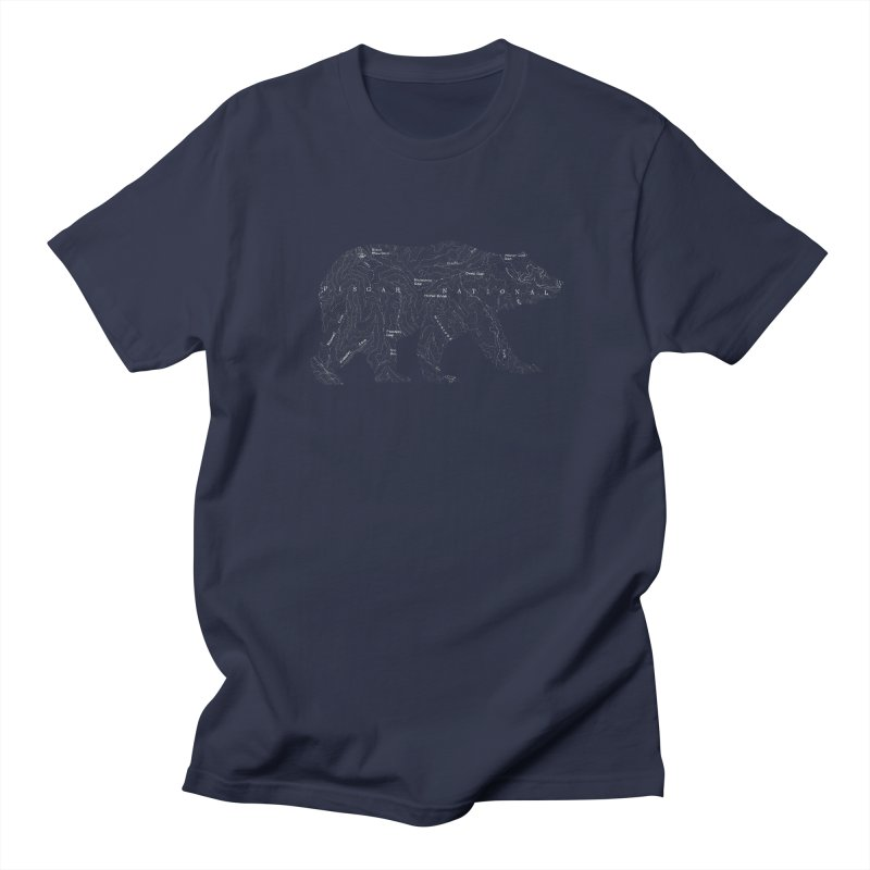 Pisgah the Topo Bear Women's Regular Unisex T-Shirt by CRANK. outdoors + music lifestyle clothing