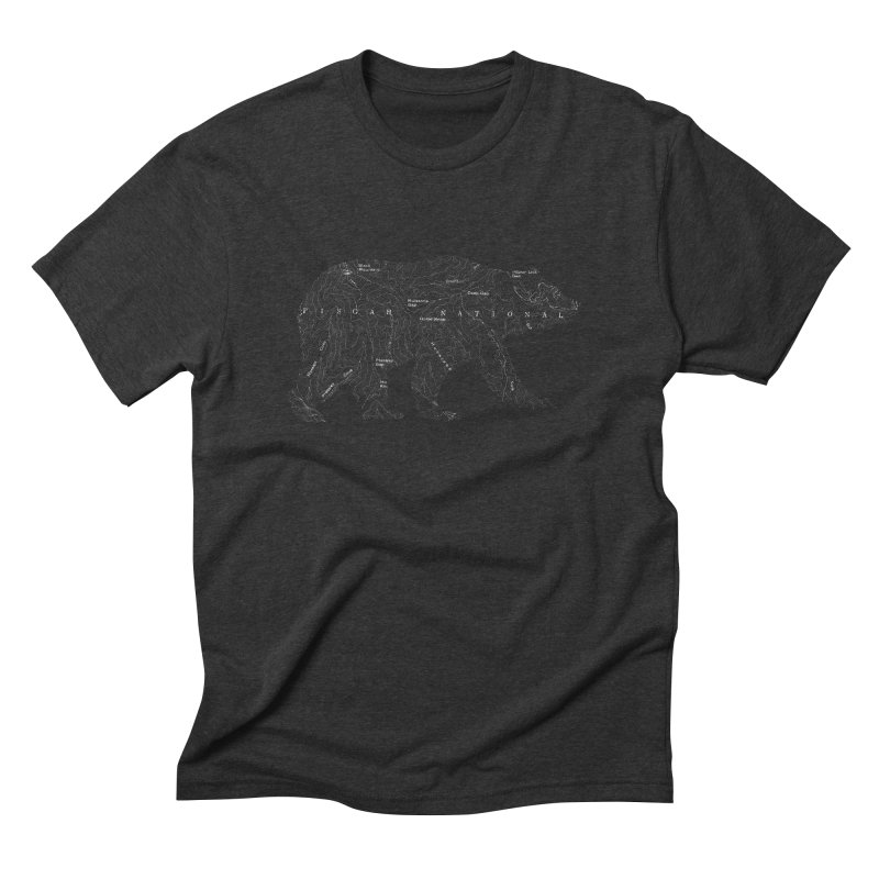 Pisgah the Topo Bear in Men's Triblend T-shirt Heather Onyx by CRANK. outdoors + music lifestyle clothing