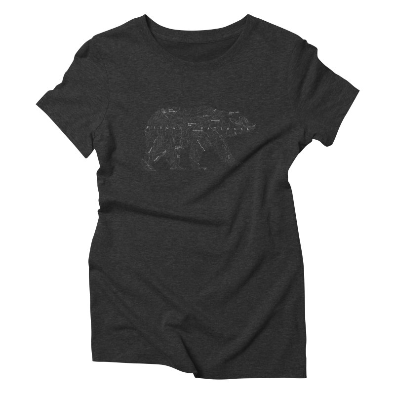 Pisgah the Topo Bear in Women's Triblend T-Shirt Heather Onyx by CRANK. outdoors + music lifestyle clothing