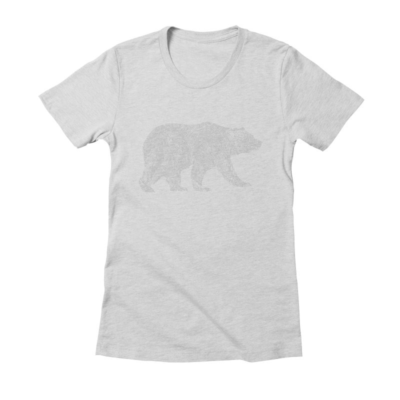 Pisgah the Topo Bear Women's Fitted T-Shirt by CRANK. outdoors + music lifestyle clothing
