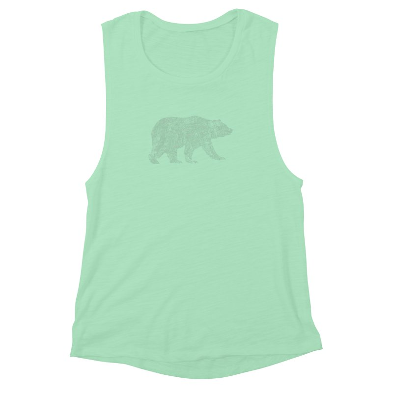 Pisgah the Topo Bear Women's Muscle Tank by CRANK. outdoors + music lifestyle clothing