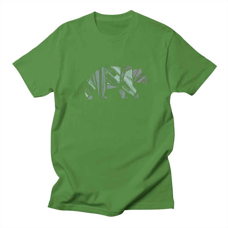 Woody, The Wood Grain Bear (green) Women's Unisex T-Shirt by CRANK. outdoors + music lifestyle clothing