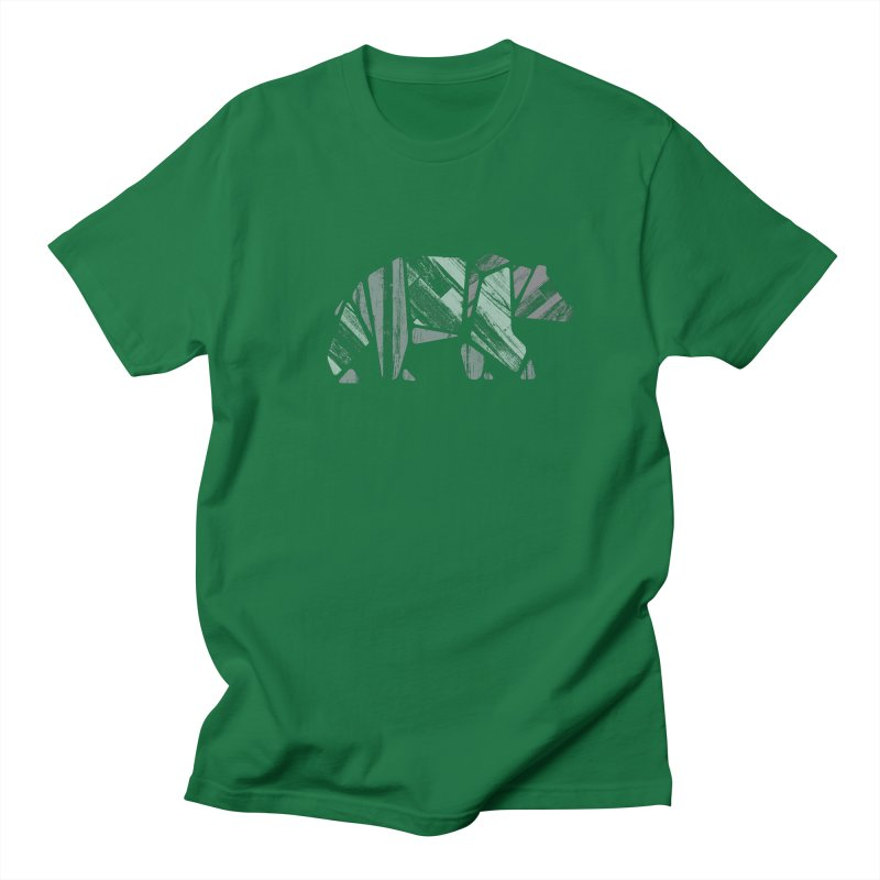 Woody, The Wood Grain Bear (green) Men's T-Shirt by CRANK. outdoors + music lifestyle clothing