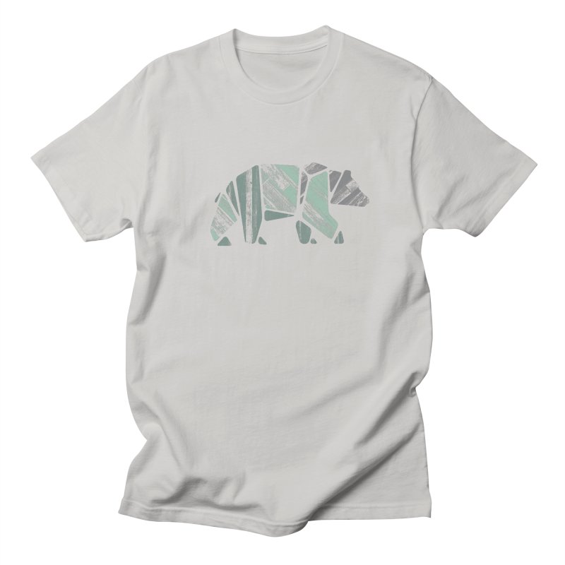 Woody, The Wood Grain Bear (green) Men's Regular T-Shirt by CRANK. outdoors + music lifestyle clothing