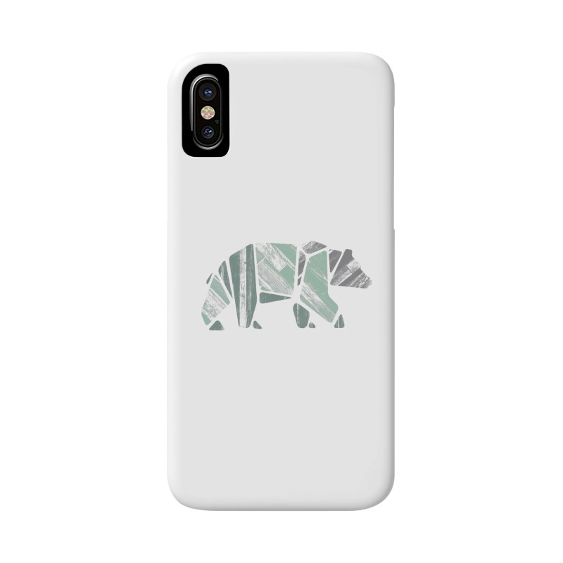 Woody, The Wood Grain Bear (green) Accessories Phone Case by CRANK. outdoors + music lifestyle clothing