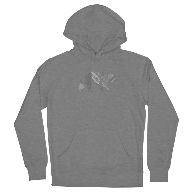 Woody, the Wood Grain Bear (grey) Men's Pullover Hoody by CRANK. outdoors + music lifestyle clothing
