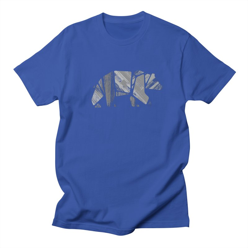 Woody, the Wood Grain Bear (grey) Women's T-Shirt by CRANK. outdoors + music lifestyle clothing