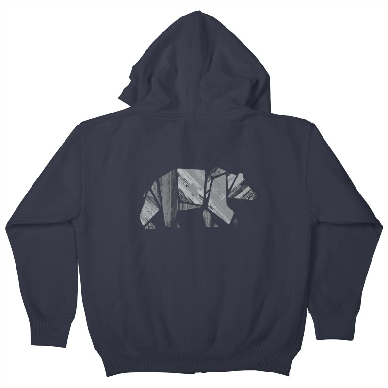 Woody, the Wood Grain Bear (grey)   by CRANK. outdoors + music lifestyle clothing