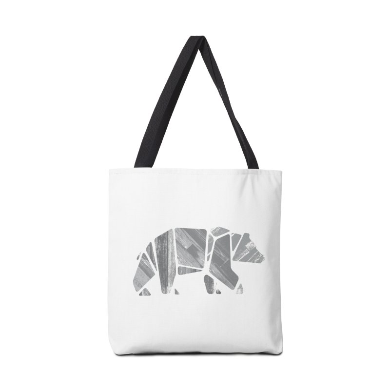 Woody, the Wood Grain Bear (grey) Accessories Bag by CRANK. outdoors + music lifestyle clothing