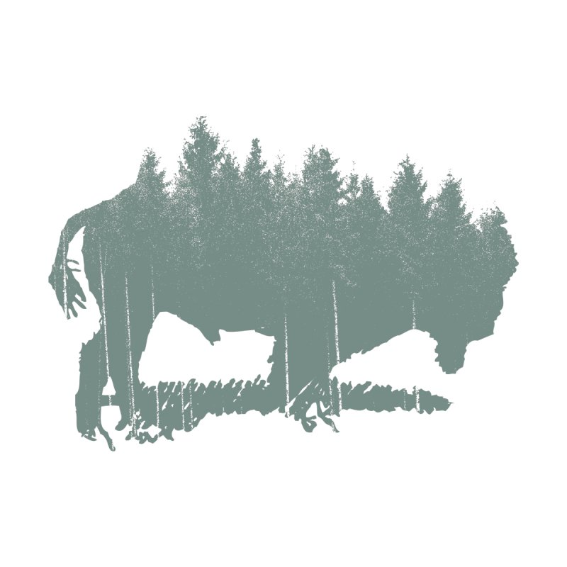 Bison Shag Tree Coat Home Fine Art Print by CRANK. outdoors + music lifestyle clothing