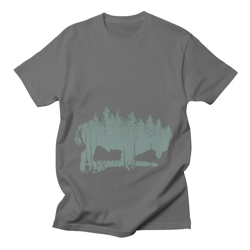 Bison Shag Tree Coat Men's T-Shirt by CRANK. outdoors + music lifestyle clothing