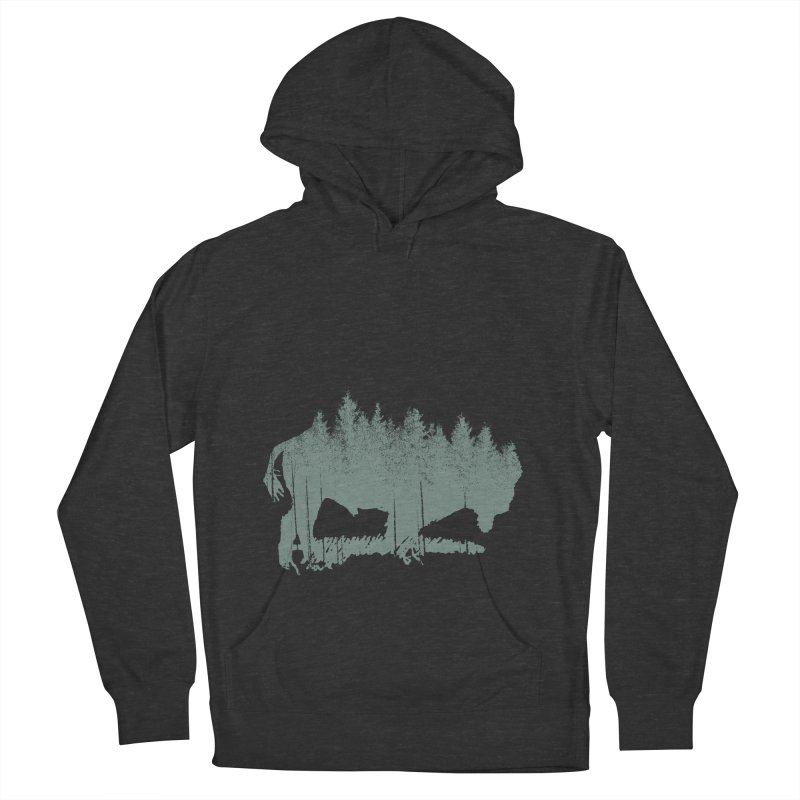 Bison Shag Tree Coat in Men's French Terry Pullover Hoody Smoke by CRANK. outdoors + music lifestyle clothing