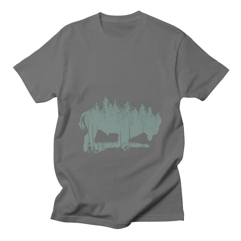 Bison Shag Tree Coat in Women's Regular Unisex T-Shirt Asphalt by CRANK. outdoors + music lifestyle clothing