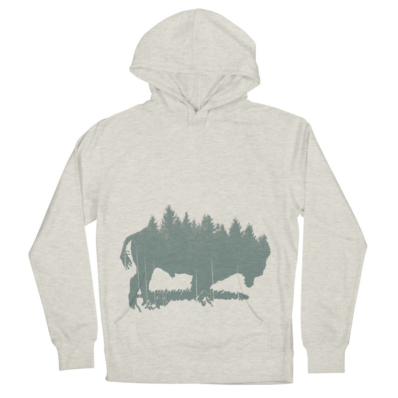 Bison Shag Tree Coat Men's French Terry Pullover Hoody by CRANK. outdoors + music lifestyle clothing