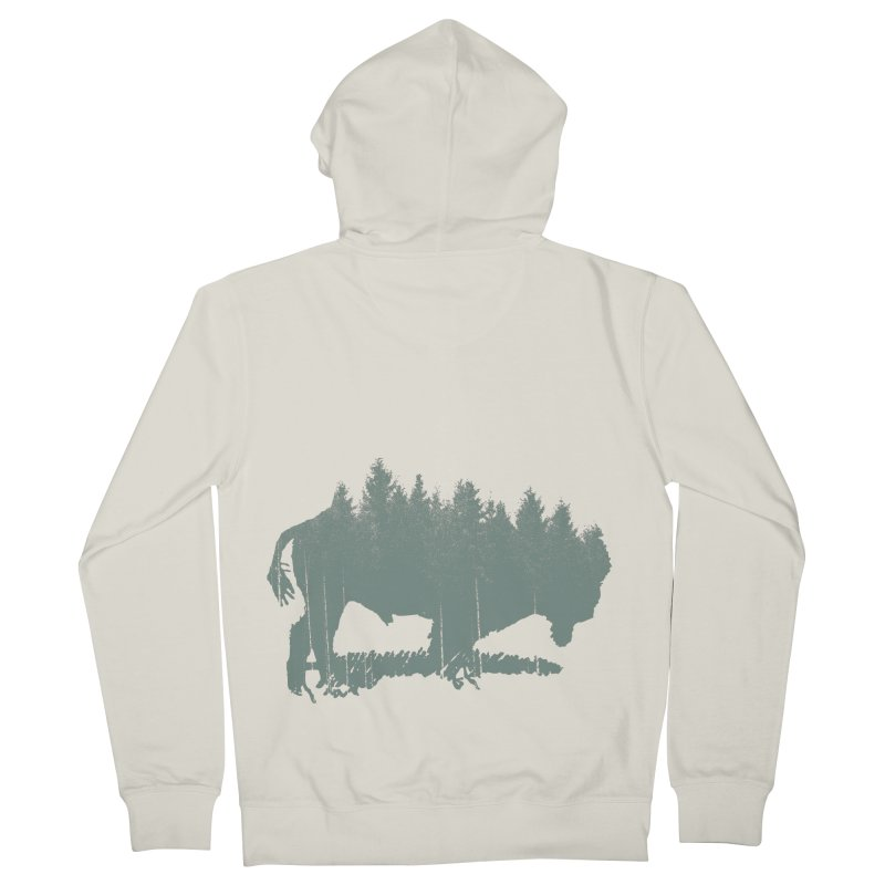 Bison Shag Tree Coat Men's French Terry Zip-Up Hoody by CRANK. outdoors + music lifestyle clothing