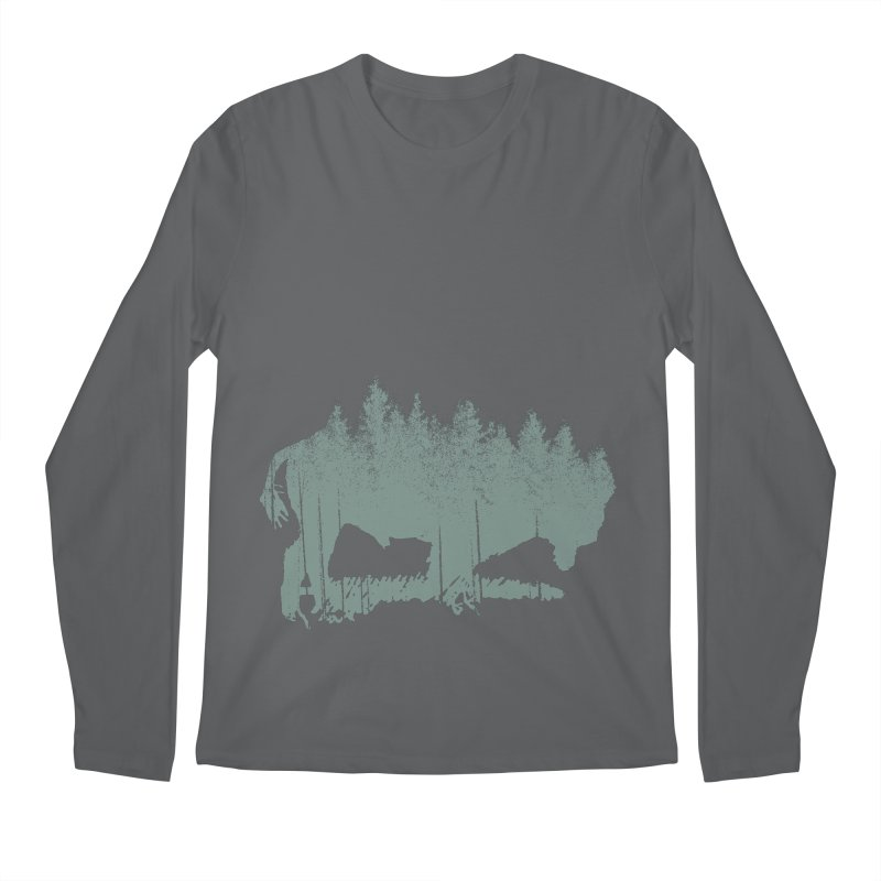 Bison Shag Tree Coat Men's Longsleeve T-Shirt by CRANK. outdoors + music lifestyle clothing