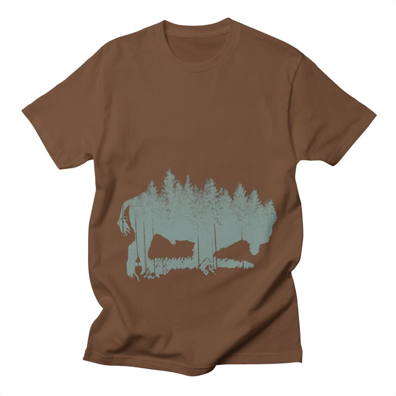 Bison Shag Tree Coat Men's Regular T-Shirt by CRANK. outdoors + music lifestyle clothing
