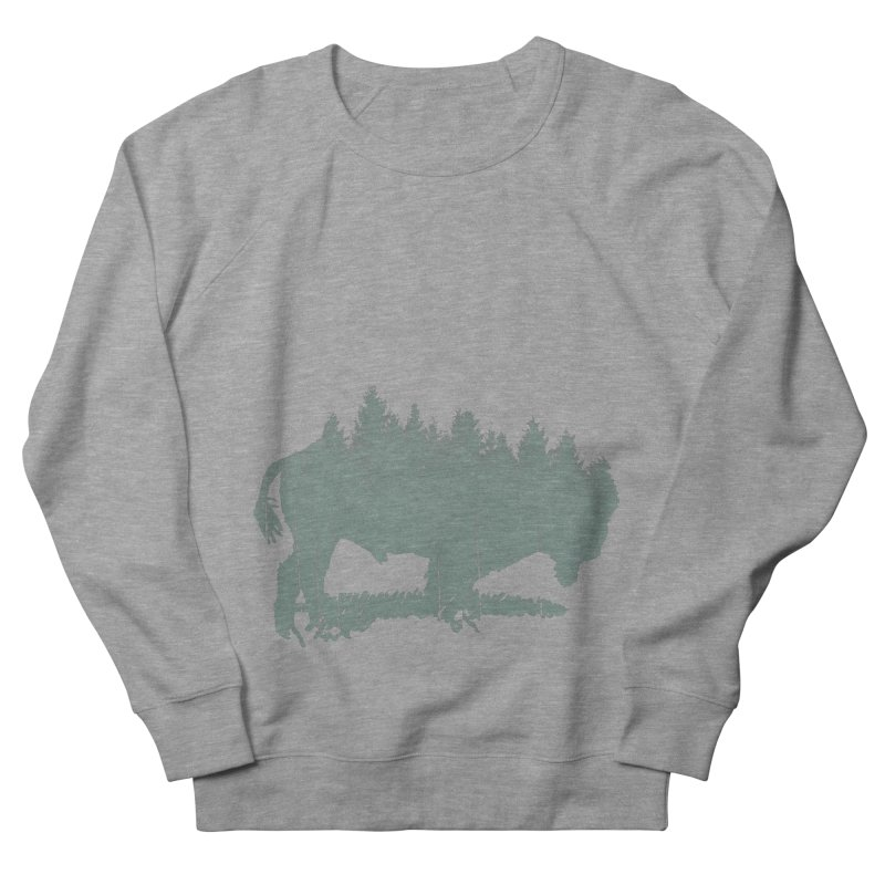Bison Shag Tree Coat Men's French Terry Sweatshirt by CRANK. outdoors + music lifestyle clothing