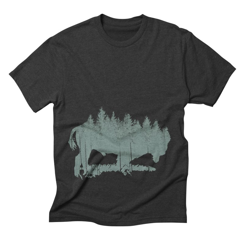 Bison Shag Tree Coat Men's Triblend T-Shirt by CRANK. outdoors + music lifestyle clothing