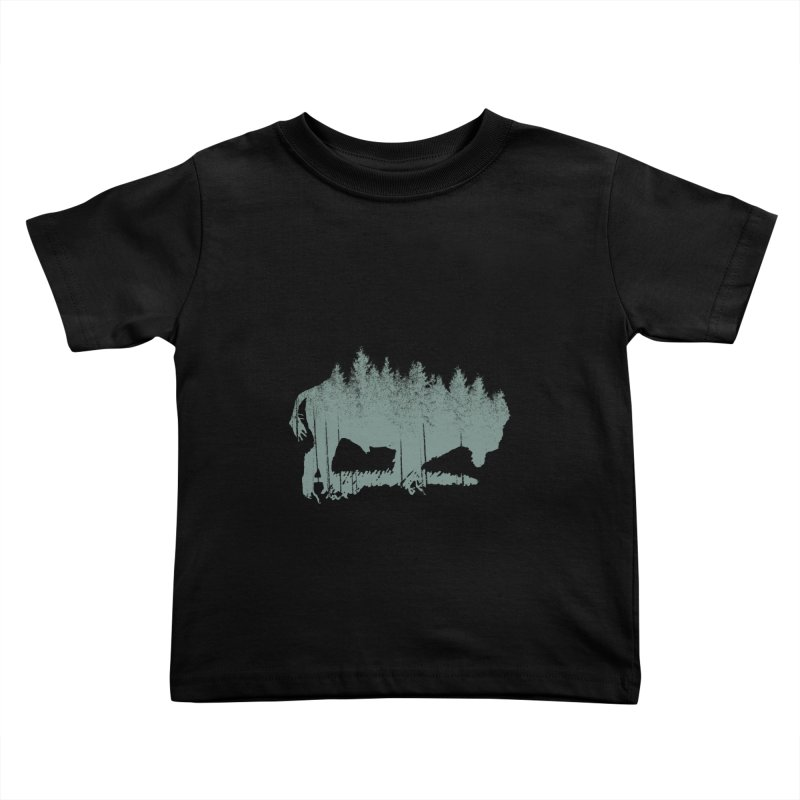 Bison Shag Tree Coat Kids Toddler T-Shirt by CRANK. outdoors + music lifestyle clothing