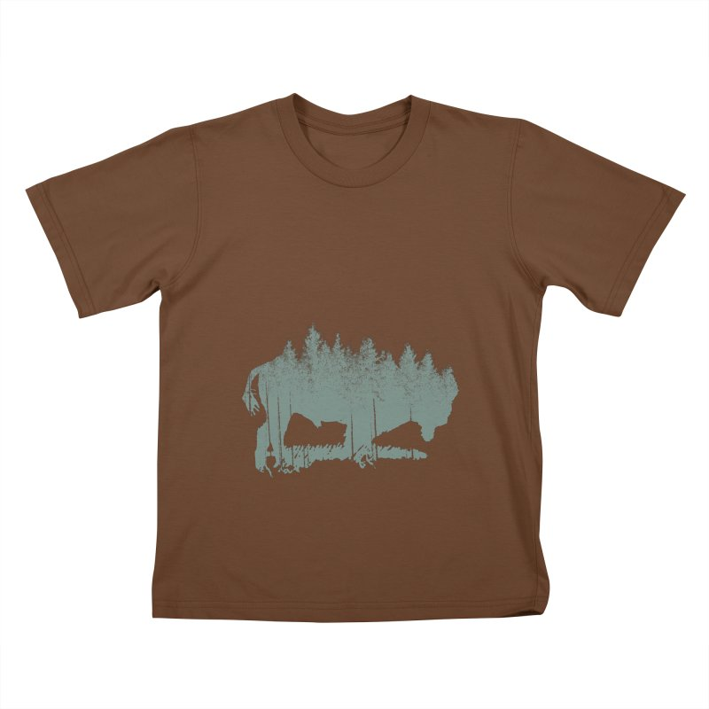 Bison Shag Tree Coat Kids T-Shirt by CRANK. outdoors + music lifestyle clothing