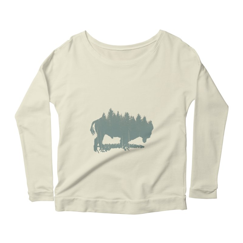 Bison Shag Tree Coat Women's Longsleeve Scoopneck  by CRANK. outdoors + music lifestyle clothing