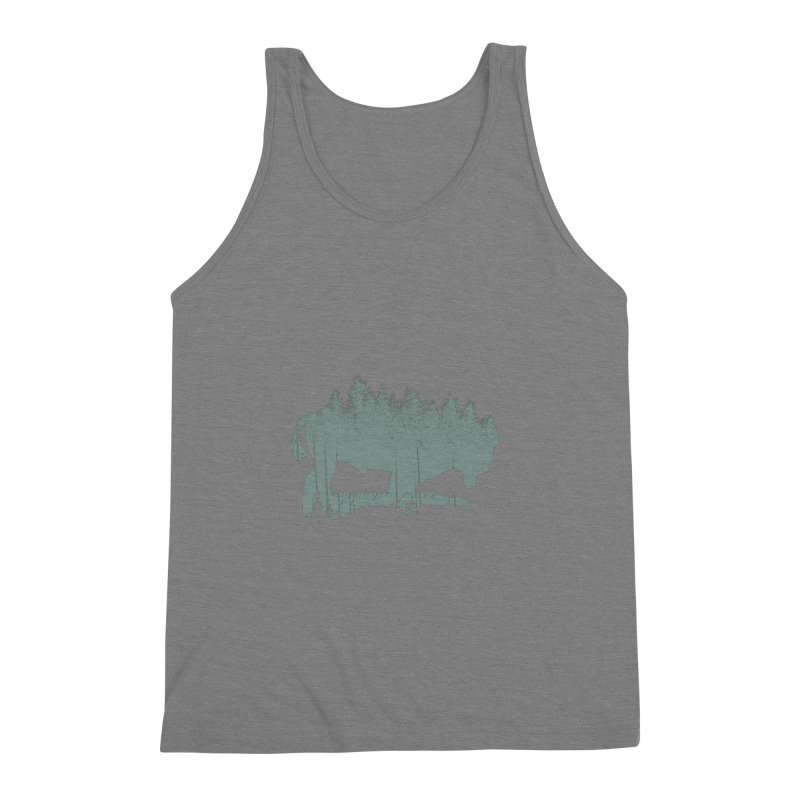 Bison Shag Tree Coat Men's Triblend Tank by CRANK. outdoors + music lifestyle clothing