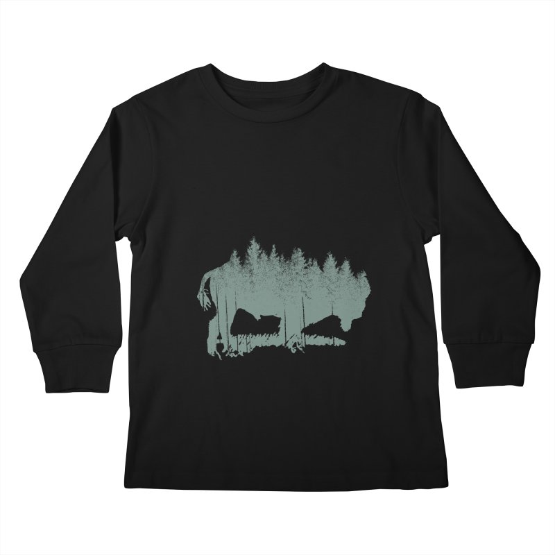 Bison Shag Tree Coat Kids Longsleeve T-Shirt by CRANK. outdoors + music lifestyle clothing