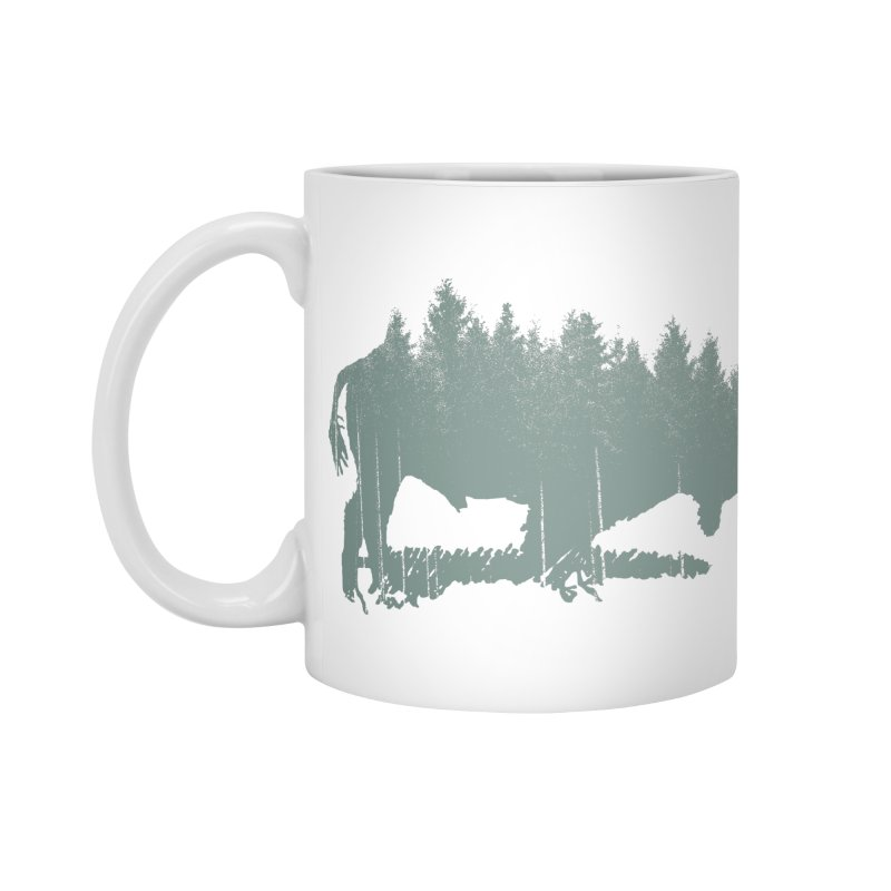 Bison Shag Tree Coat Accessories Standard Mug by CRANK. outdoors + music lifestyle clothing
