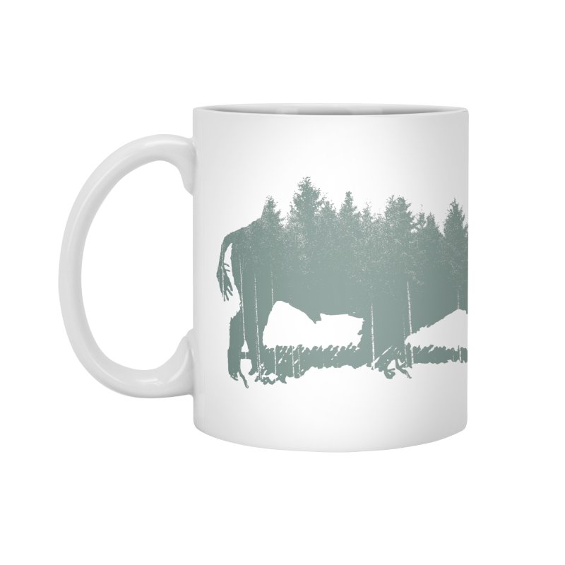 Bison Shag Tree Coat Accessories Mug by CRANK. outdoors + music lifestyle clothing