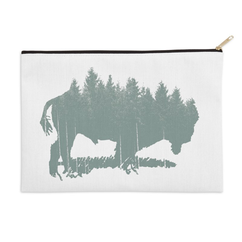 Bison Shag Tree Coat Accessories Zip Pouch by CRANK. outdoors + music lifestyle clothing