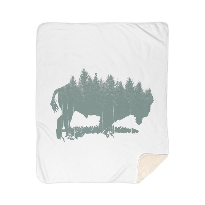 Bison Shag Tree Coat Home Sherpa Blanket Blanket by CRANK. outdoors + music lifestyle clothing